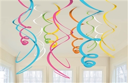 Multi Color Swirl Decorations | Luau Party Supplies