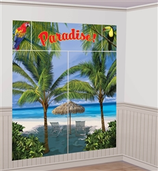 Palm Tree Scene Setters Wall Decorating Kit | Luau Party Supplies