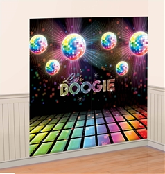 Disco fever Scene Setters Wall Decorating Kit | Party Supplies