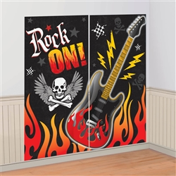 Rock On Scene Setters Wall Decorating Kit | Party Supplies
