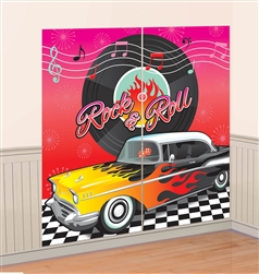 Classic 50's Scene Setters Wall Decorating Kit | Party Supplies