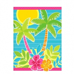 Summer Scene Plastic Table Cover | Luau Party Supplies