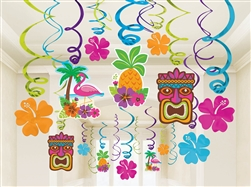 Summer Luau Value Pack Foil Swirl Decorations | Luau Party Supplies