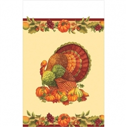 Joyful Thanksgiving Plastic Table Cover | Party Supplies