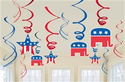 Republican Swirl Foil Value Pack | Party Supplies