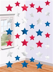 Patriotic Star String Decorations | Party Supplies