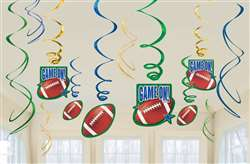 Football Value Pack Foil Swirl Decorations | Party Supplies