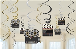Lights! Camera! Action! Value Pack Foil Swirl | Party Supplies