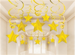 Gold Swirl Shooting Star Mega Value Pack | Party Supplies