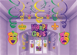 Mardi Gras Foil Swirl Mega Value Pack | party decorations