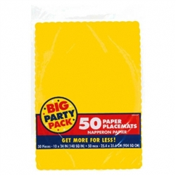Yellow Sunshine Paper Placemats - 50ct | Party Supplies