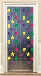 Mardi Gras Foil Doorway Danglers | party supplies