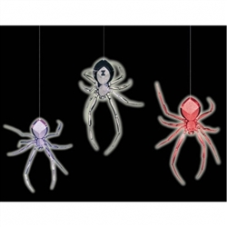 3-D Spider Hanging Decorations | Party Supplies