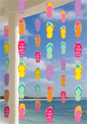 Flip Flop Printed Paper String Decoration | Luau Party Supplies