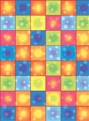 Disco Boogie Squares Scene Setters Room Roll | Party Supplies