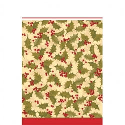 Winter Holly Plastic Table Covers | Party Supplies