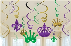 Mardi Gras Foil Swirl Value Pack | Mardi Gras party decorations