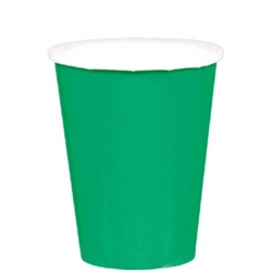 Forest Green 9oz Paper Cups - 20ct | Party Supplies