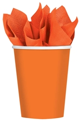 Autumn Warmth 9 oz. Orange Cups | Party Supplies