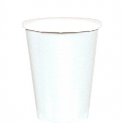 Frosty White 9oz., Paper Cups | Party Supplies