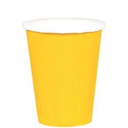 Yellow Sunshine 9oz Paper Cups - 20ct | Party Supplies
