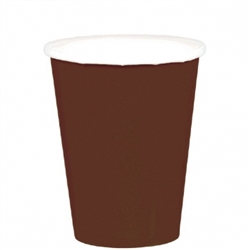 Chocolate Brown 9 oz Paper Cups - 20ct. | Party Supplies