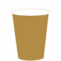 Gold 9 oz Paper Cups - 20ct. | Party Supplies