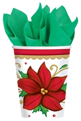 Winter Botanical 9oz. Paper Cups | Party Supplies