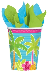 Summer Scene Cups | Luau Party Supplies