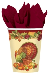 Joyful Thanksgiving 9 oz. Cups | Party Supplies