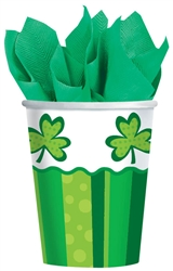 St. Patrick's Day Cheer 9 oz. Cups | Party Supplies