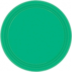 "Festive Green 10-1/2"" Paper Plates - 20ct 