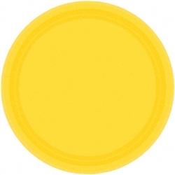 "Yellow Sunshine 10-1/2"" Paper Plates - 20ct 