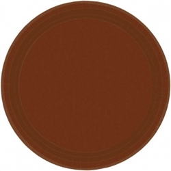 "Chocolate Brown Paper 10-1/2"" Plates - 20ct. 