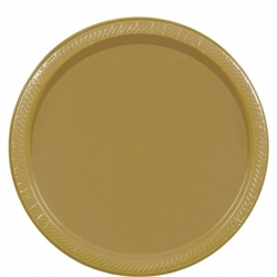 "Gold Paper 10-1/2"" Plates - 20ct. 