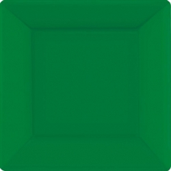 "Festive Green 10"" Square Paper Plates - 20ct 