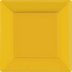 "Yellow Sunshine 10"" Square Paper Plates - 20ct 
