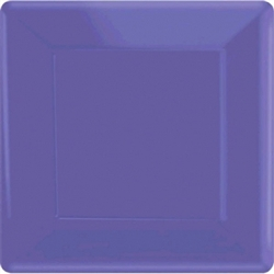 "New Purple 10"" Square Paper Plates - 20ct 