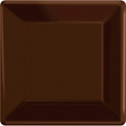 "Chocolate Brown 10"" Paper Plates - 20ct. 
