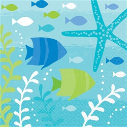 Summer Sea Beverage Napkins | Party Supplies