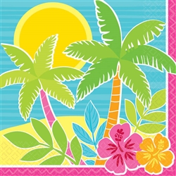 Summer Scene Beverage Napkins | Party Supplies