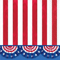 American Pride Beverage Napkins | Party Supplies
