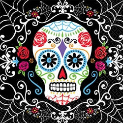 Day of the Dead Beverage Napkins | Halloween Party Supplies