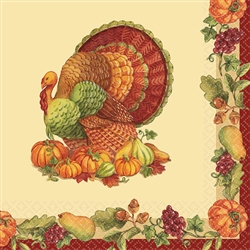 Joyful Thanksgiving Beverage Napkins | Party Supplies