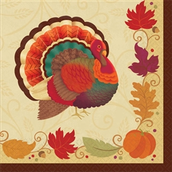 Thanksgiving Holiday Beverage Napkins | Party Supplies