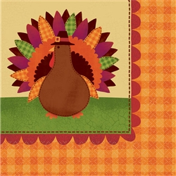 Turkey Dinner Beverage Napkins | Party Supplies