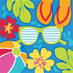 Summer Splash Beverage Napkins | Party Supplies