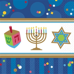Hanukkah Celebrations Beverage Napkins | Party Supplies