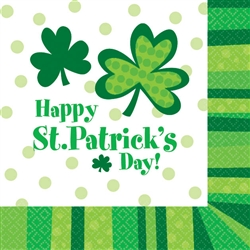 St. Patrick's Day Cheer Beverage Napkins, 125ct. | party supplies