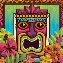 Tropical Tiki Beverage Napkins | Party Supplies